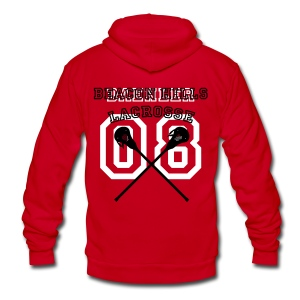 DAEHLER Beacon Hills Lacrosse - Crew-neck - Unisex Fleece Zip Hoodie by American Apparel
