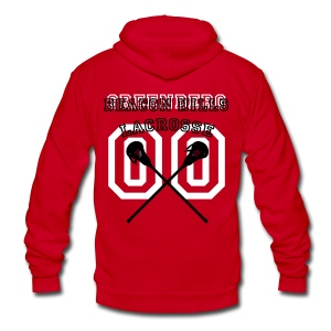 GREENBERG Beacon Hills Lacrosse - Crew-neck - Unisex Fleece Zip Hoodie by American Apparel