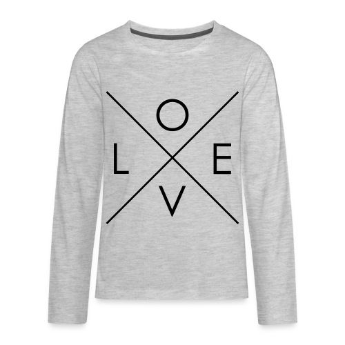 L | O | V | E Comfy Tee for Kids - Kids' Premium Long Sleeve T-Shirt