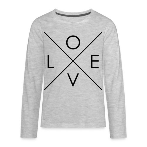 L | O | V | E Comfy Tee for Kids - Kids' Premium Long Sleeve T-Shirt
