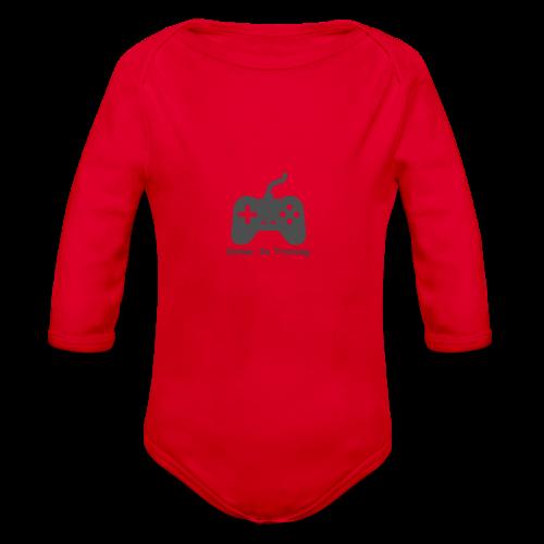 gamer in training - Organic Long Sleeve Baby Bodysuit