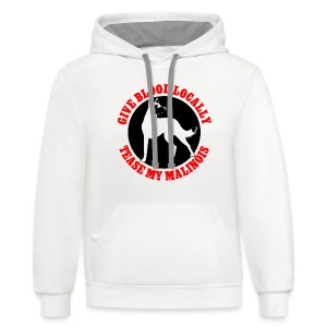 Belgian Malinois Guard Dog Long Sleeve T-Shirt - Contrast Hoodie