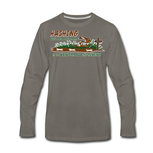 Hash running - Men's Premium Long Sleeve T-Shirt
