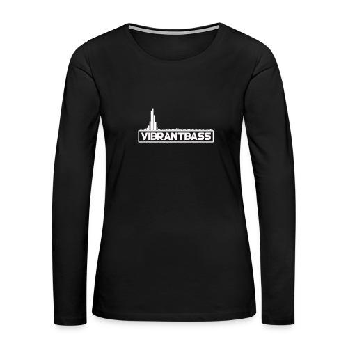 Women's Vibrant Hoodie (Black) - Women's Premium Long Sleeve T-Shirt