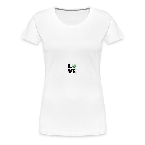 Love Marijuana Pot Leaf - Women's Premium T-Shirt
