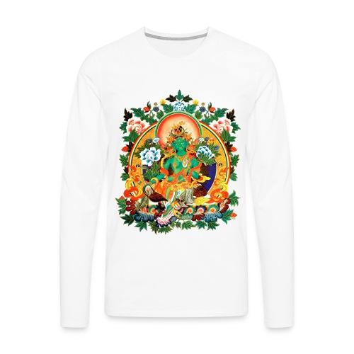 Green Tara Men's Ringer T-Shirt - Men's Premium Long Sleeve T-Shirt