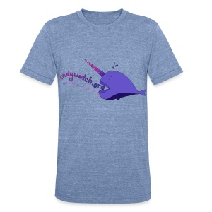 Narwhal Tee - Unisex Tri-Blend T-Shirt by American Apparel