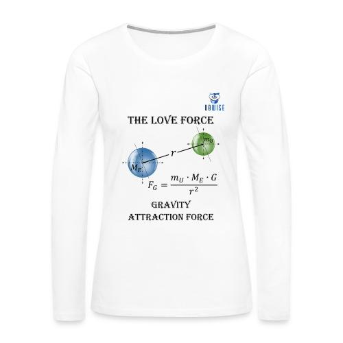 Newton Gravity MuMeG - Maternity T-Shirt - Women's Premium Long Sleeve T-Shirt