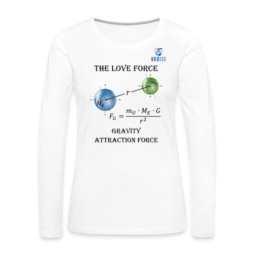 Newton Gravity MuMeG - Maternity T-Shirt - Women's Premium Long Sleeve T-Shirt