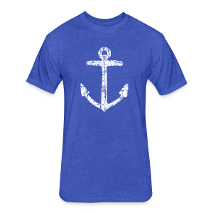 Anchor Vintage T-Shirt - Fitted Cotton/Poly T-Shirt by Next Level