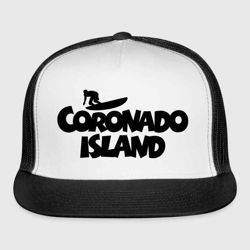 Coronado Island Surf Design for Californian Surfer Caps - Trucker Cap