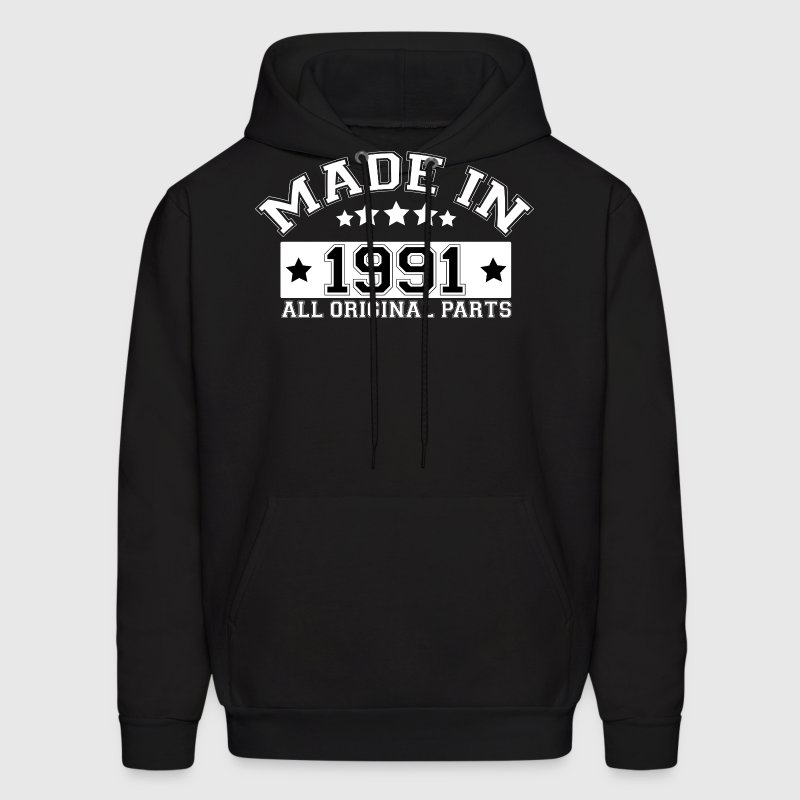 MADE IN 1991 ALL ORIGINAL PARTS Hoodies - Men's Hoodie