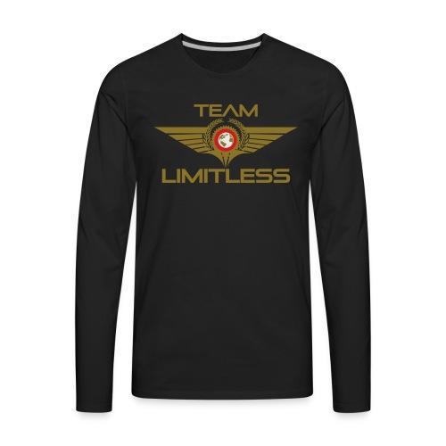 Mens 3X & 4X LIMITLESS - Men's Premium Long Sleeve T-Shirt