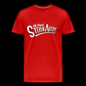 Who Framed Steven Avery - Men's Premium T-Shirt