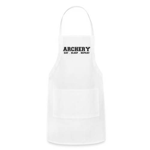 Archery Eat Sleep Repeat - White - Adjustable Apron