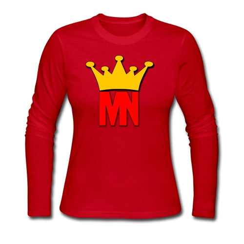 MagicNation Slim Fit T-Shirt (Female) - Women's Long Sleeve Jersey T-Shirt