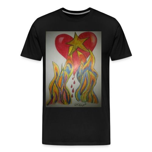 Men's Twin Flame Tee (Black) - Men's Premium T-Shirt
