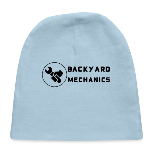 Mens Backyard Mechanics sideways white - Baby Cap
