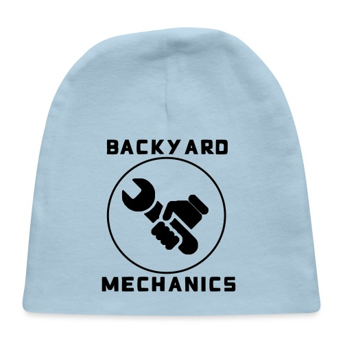 Mens Backyard Mechanics Black - Baby Cap