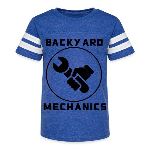 Mens Backyard Mechanics Black - Kid's Vintage Sport T-Shirt