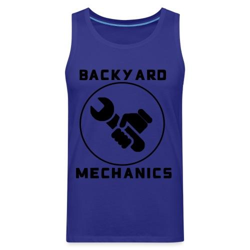Mens Backyard Mechanics Black - Men's Premium Tank