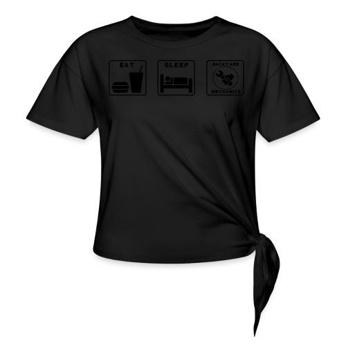 Mens EAT SLEEP BM spanner logo - Women's Knotted T-Shirt