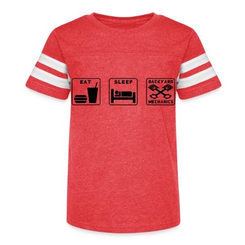 Mens EAT SLEEP BM old white - Kid's Vintage Sport T-Shirt