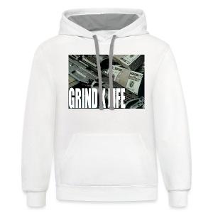 GRIND X LIFE TEE MONEY - Contrast Hoodie