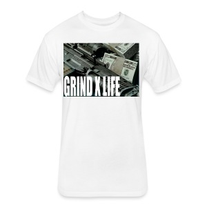 GRIND X LIFE TEE MONEY - Fitted Cotton/Poly T-Shirt by Next Level
