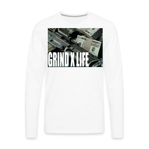 GRIND X LIFE TEE MONEY - Men's Premium Long Sleeve T-Shirt
