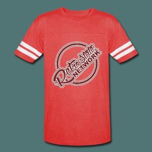 RSN SIMPLEX [White & Burgandy] - Vintage Sport T-Shirt