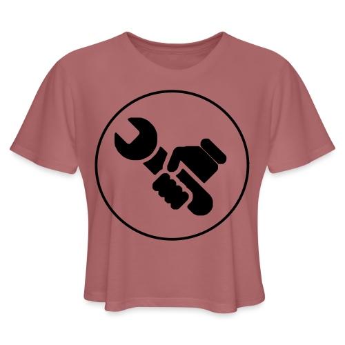 Mens Spanner White - Women's Cropped T-Shirt