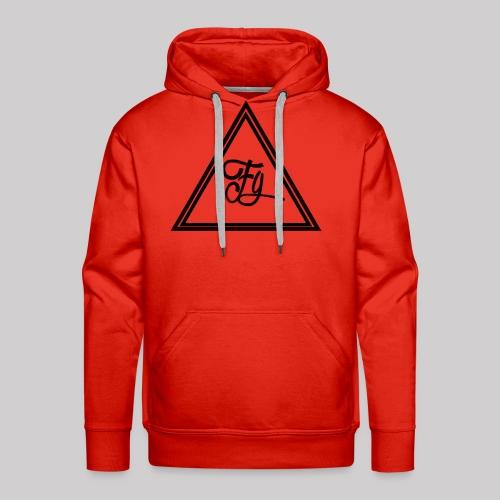 FG Hoodie middle logo - Men's Premium Hoodie