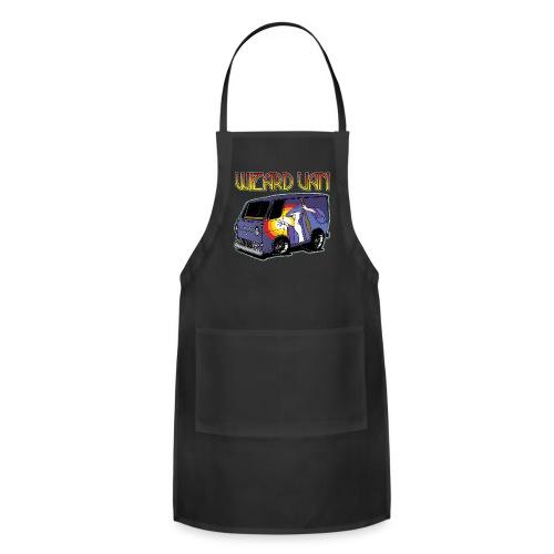 Wizard Van Men's T-Shirt Black - Adjustable Apron