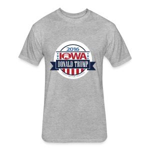 Trump Iowa Hoodie - Fitted Cotton/Poly T-Shirt by Next Level