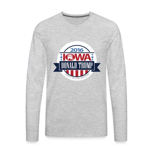 Trump Iowa Hoodie - Men's Premium Long Sleeve T-Shirt