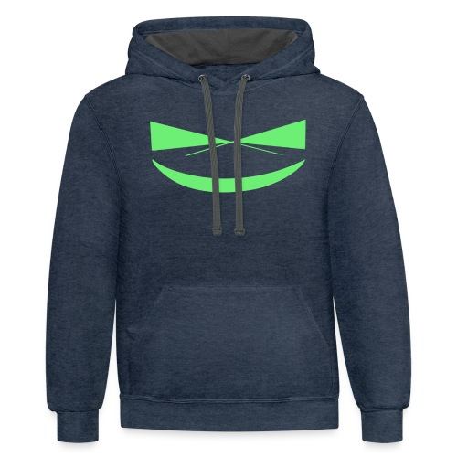 The Smile of a Noob Men's T-Shirt - Contrast Hoodie