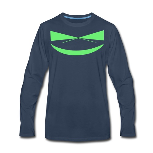 The Smile of a Noob Men's T-Shirt - Men's Premium Long Sleeve T-Shirt