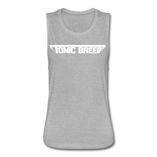 Tonic Breed logo - Unisex - Women's Flowy Muscle Tank by Bella