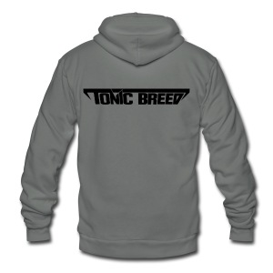 Tonic Breed Logo - Woman - Unisex Fleece Zip Hoodie by American Apparel