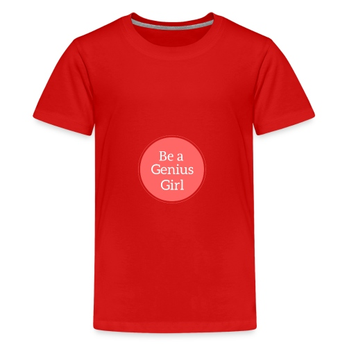 Be a Genius Girl Logo Onsie - Kids' Premium T-Shirt
