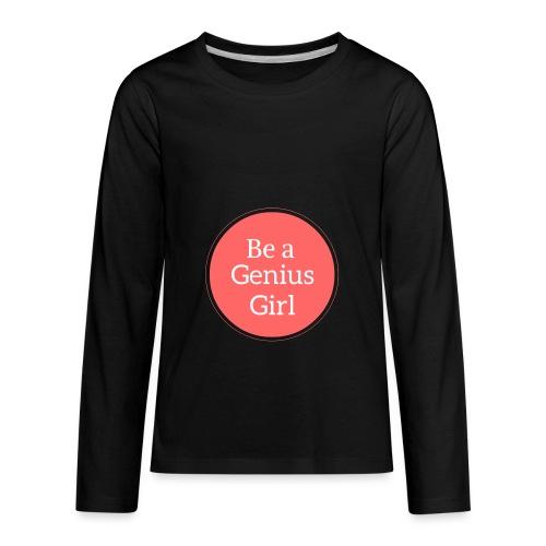 Be a Genius Girl Logo Onsie - Kids' Premium Long Sleeve T-Shirt