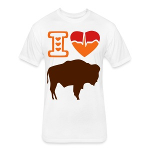 I Love Buffalo's - Fitted Cotton/Poly T-Shirt by Next Level