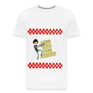 LessThanNess Pizzeria Ringer - Men's Premium T-Shirt
