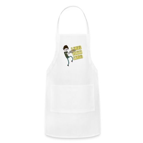 LessThanNess Ringer Shirt (White&Red) - Adjustable Apron