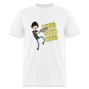 LessThanNess Ringer Shirt (White&Red) - Men's T-Shirt