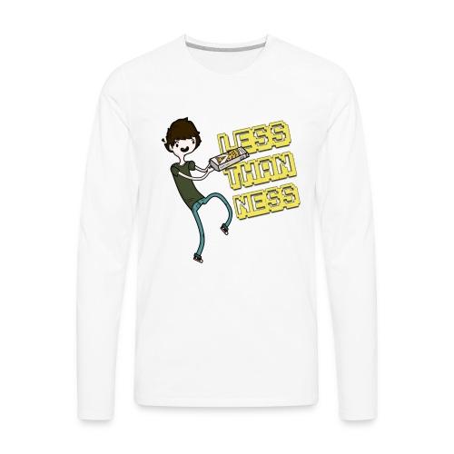 LessThanNess Ringer Shirt (White&Red) - Men's Premium Long Sleeve T-Shirt