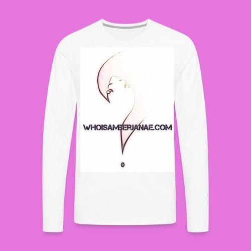 Men's Whoisamberjanae Logo Tee - Men's Premium Long Sleeve T-Shirt