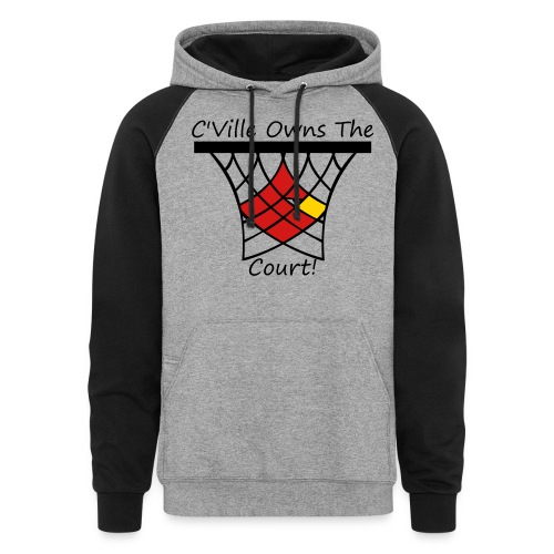 Women's C'Ville Owns the Court! long-sleeve - Colorblock Hoodie