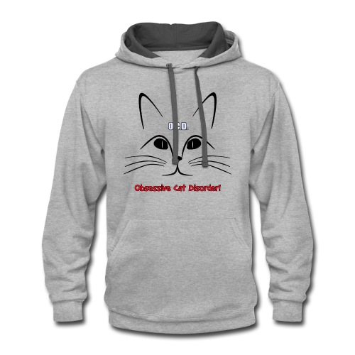 O.C.D. Obsessive Cat Disorder Unisex T-Shirt - Contrast Hoodie